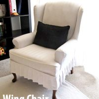 My Wing Chair Slipcover Reveal!!