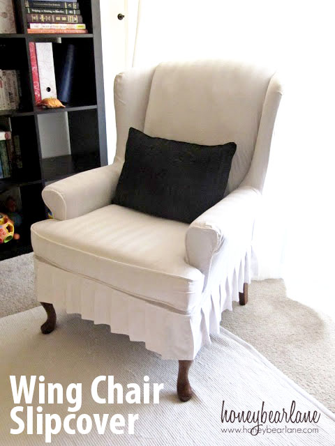My Wing Chair Slipcover Reveal!