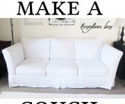 how to make a couch slipcover