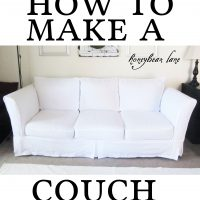 Slipcover Progress and How to Make a Cushion Cover