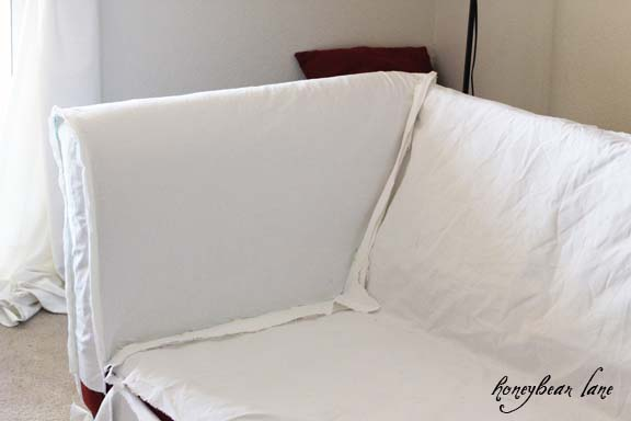 How to Make a Couch Slipcover Part 1 : slipcover7 from www.honeybearlane.com size 576 x 384 jpeg 31kB