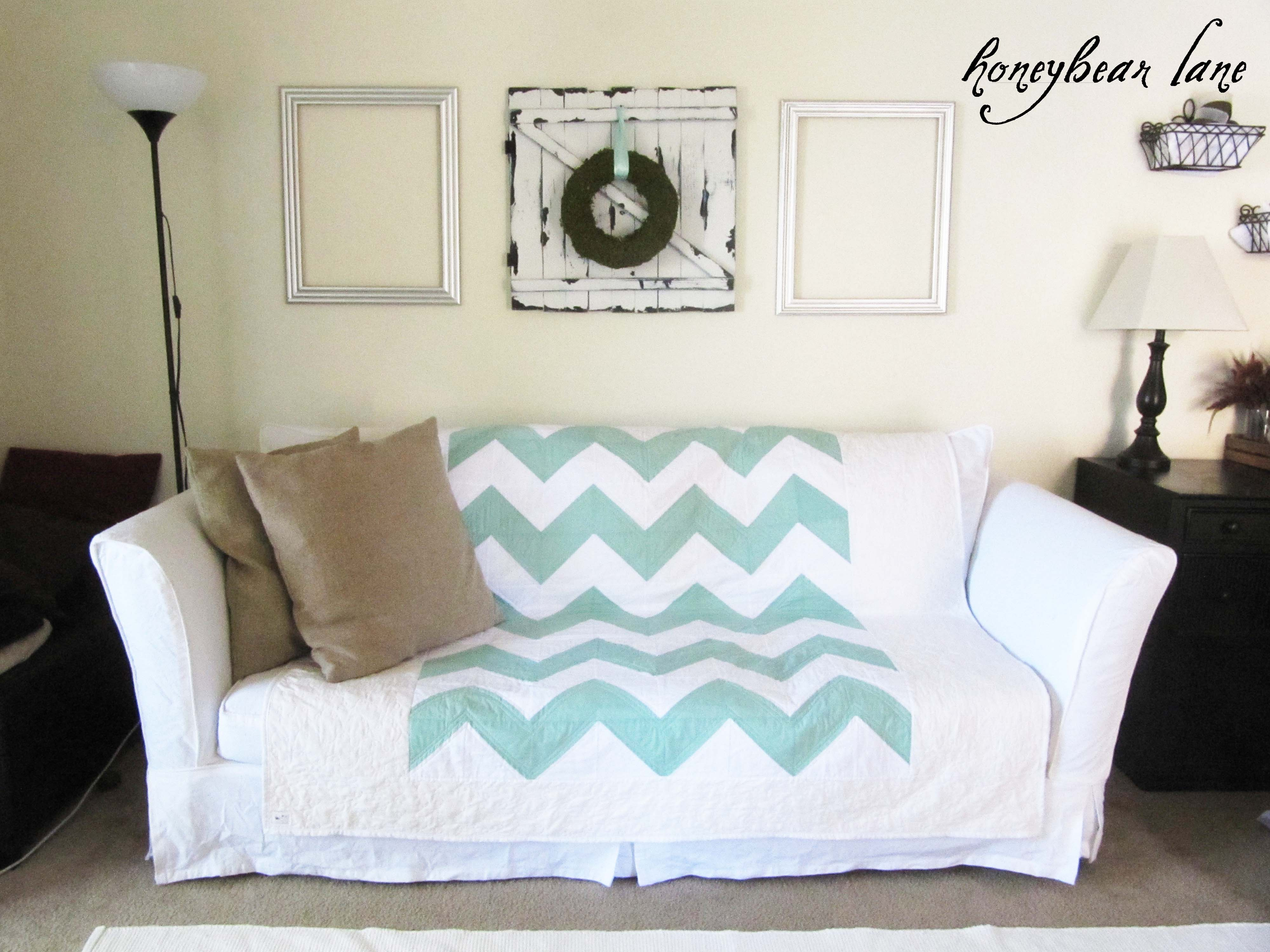 How to Make a Slipcover Part 2 Slipcover Reveal Honeybear Lane