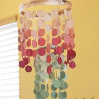 Paint Chip Chandelier