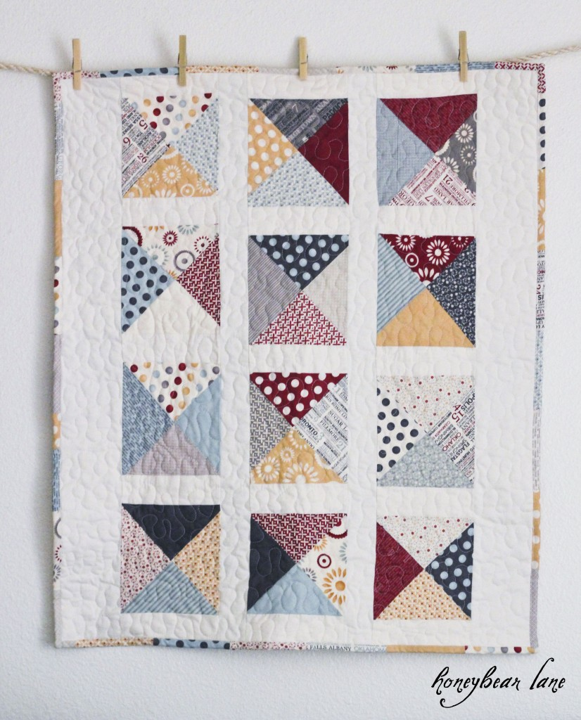 Quilt Patterns With Letters : Letters from Home Quilt Pattern - HoneyBear Lane