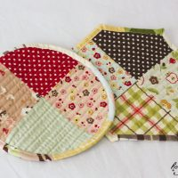 Potholders for Mom's Birthday:  Riley Blake Farm Fresh