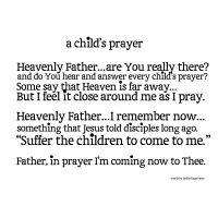 A Child's Prayer Printable