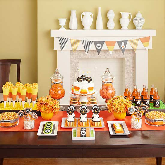 southern blue celebrations halloween party table ideas