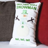 Once There Was a Snowman Pillow