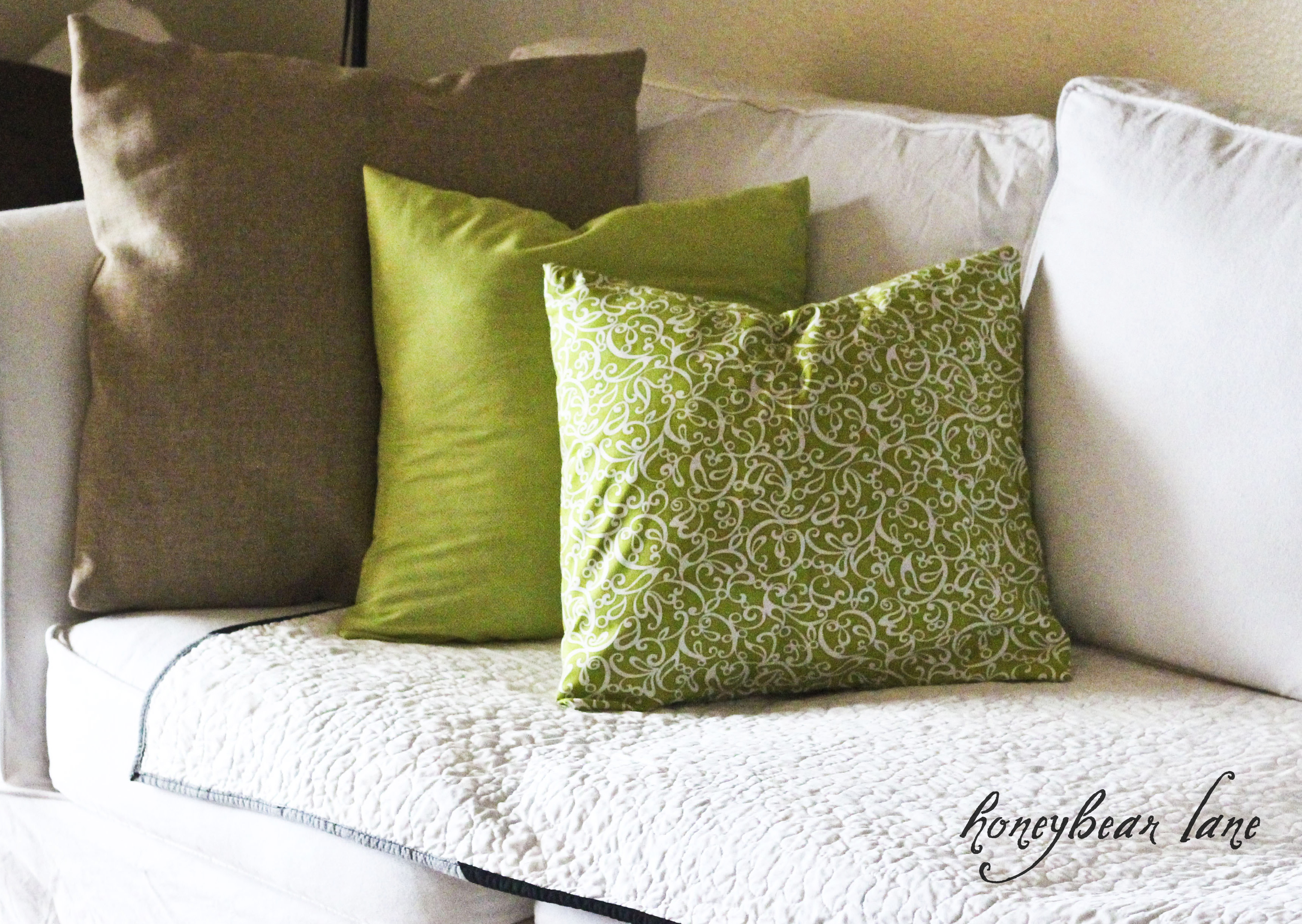 Making Decorative Pillow Cases : Ten Minute Pillow Cases - HoneyBear Lane