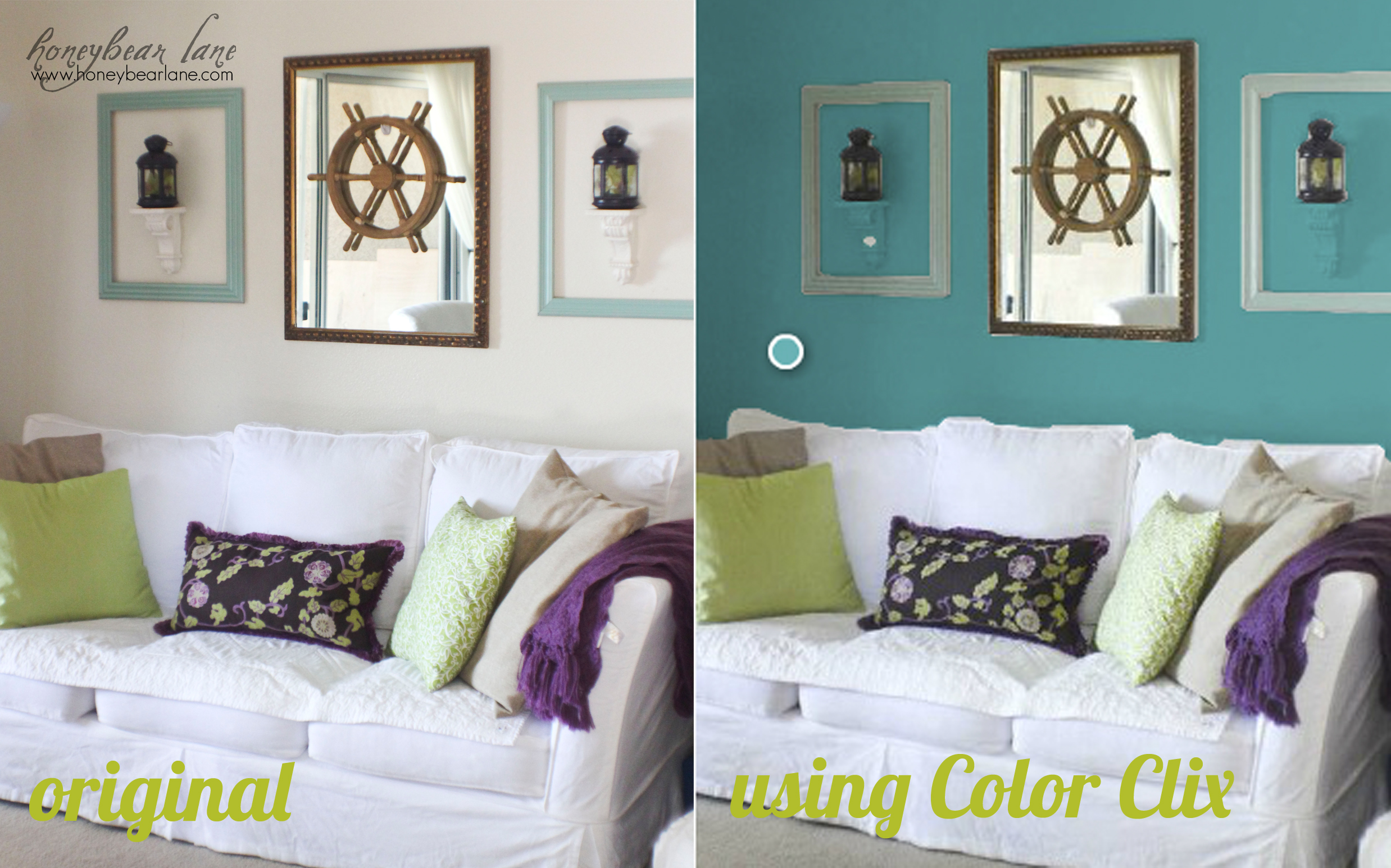 painting living room walls different colors how to virtually re paint your room honeybear 26294