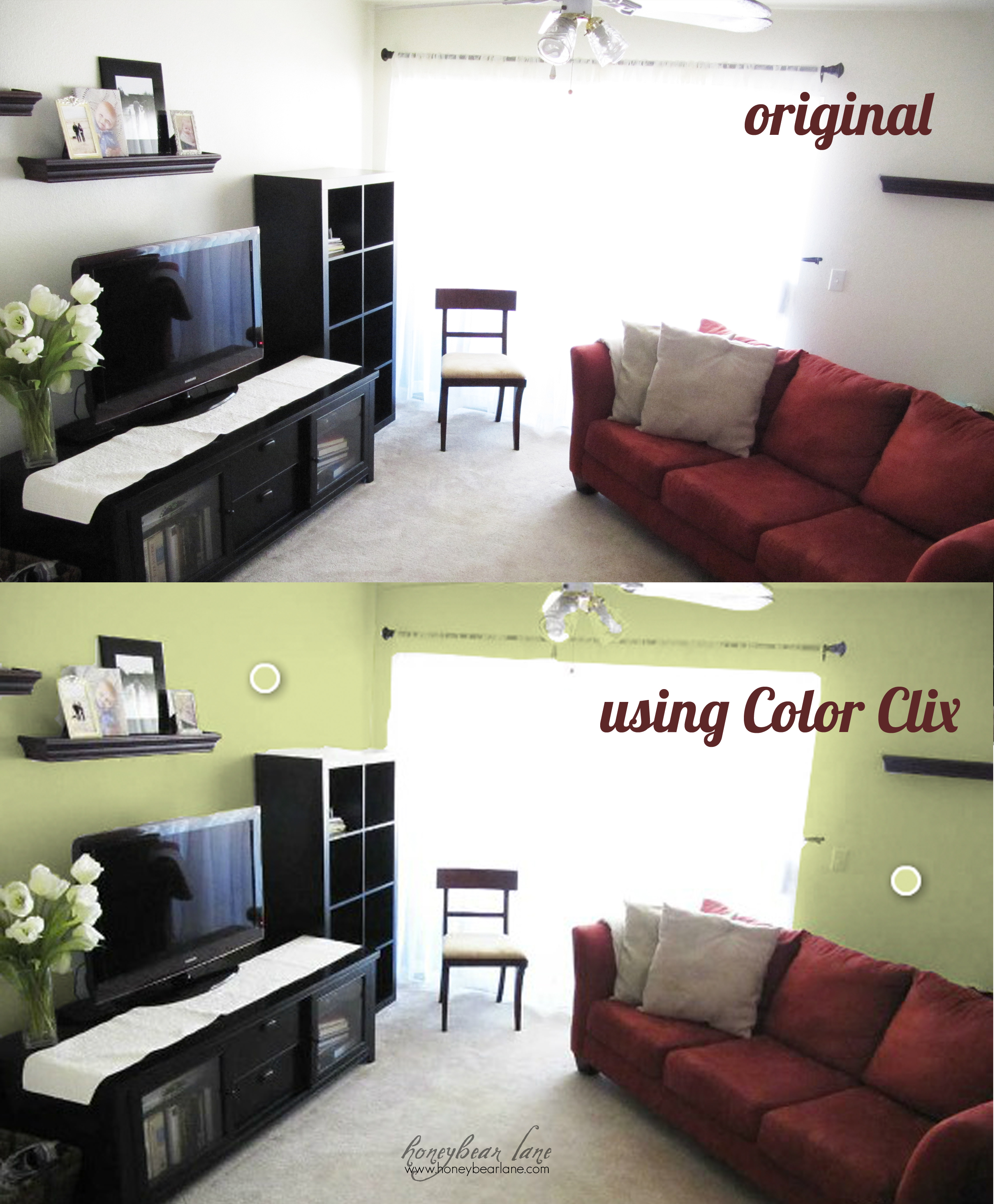 How to Virtually Re-Paint Your Room - Honeybear Lane