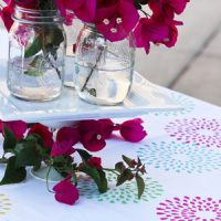 Spring Tablecloth Tutorial with Martha Stewart Crafts