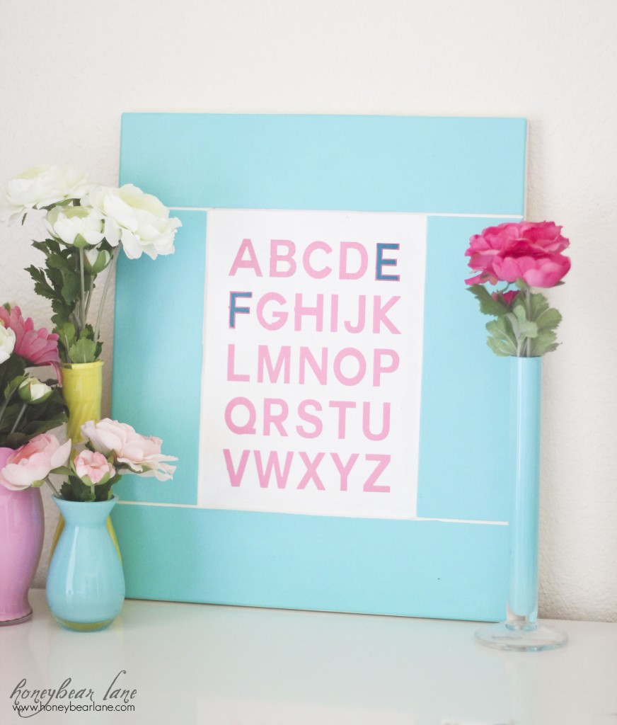 Alphabet Room Decor