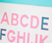 Alphabet Wall Art for Baby Girl Nursery
