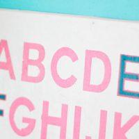 Alphabet Wall Art for Baby Girl Nursery