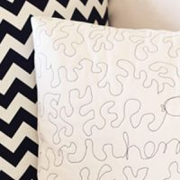 Nautical Quilted Pillow Cover