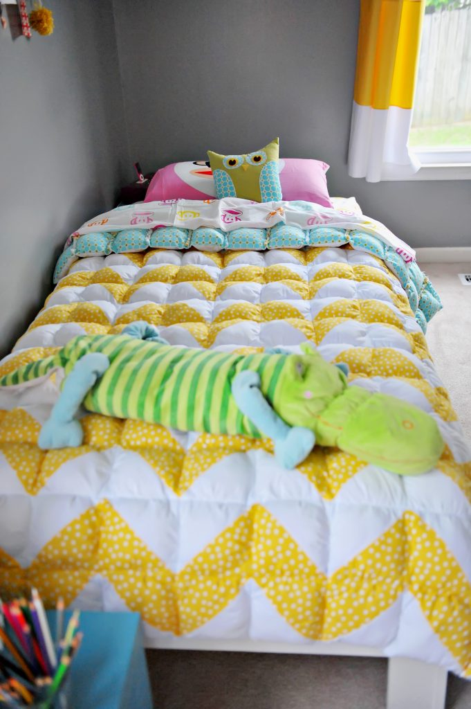 A Twin Size Chevron Puff Quilt Honeybear Lane