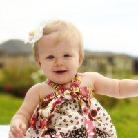 sewing for babies: apron halter top