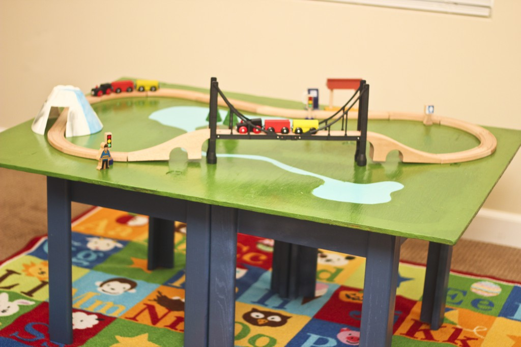 Make a train table with plywood and a coffee table honeybear lane Train table coffee table