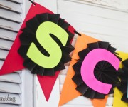 Back to School Banner with Astrobrights Paper
