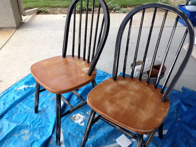 Painting & Ombre Windsor Chairs - Honeybear Lane