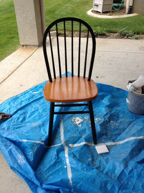 Chalk Paint Windsor Chairs