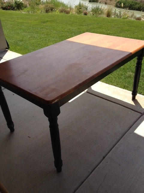 painting the dining room table: a survivor's story - honeybear lane