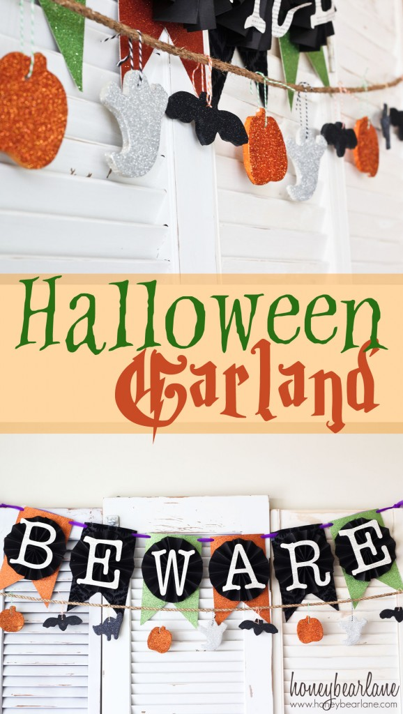 Halloween salt dough garland