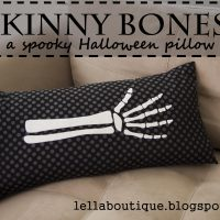 Skinny Bones Halloween Pillow