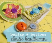 burlap and buttons elastic headbands