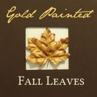 Gold Painted Fall Leaves