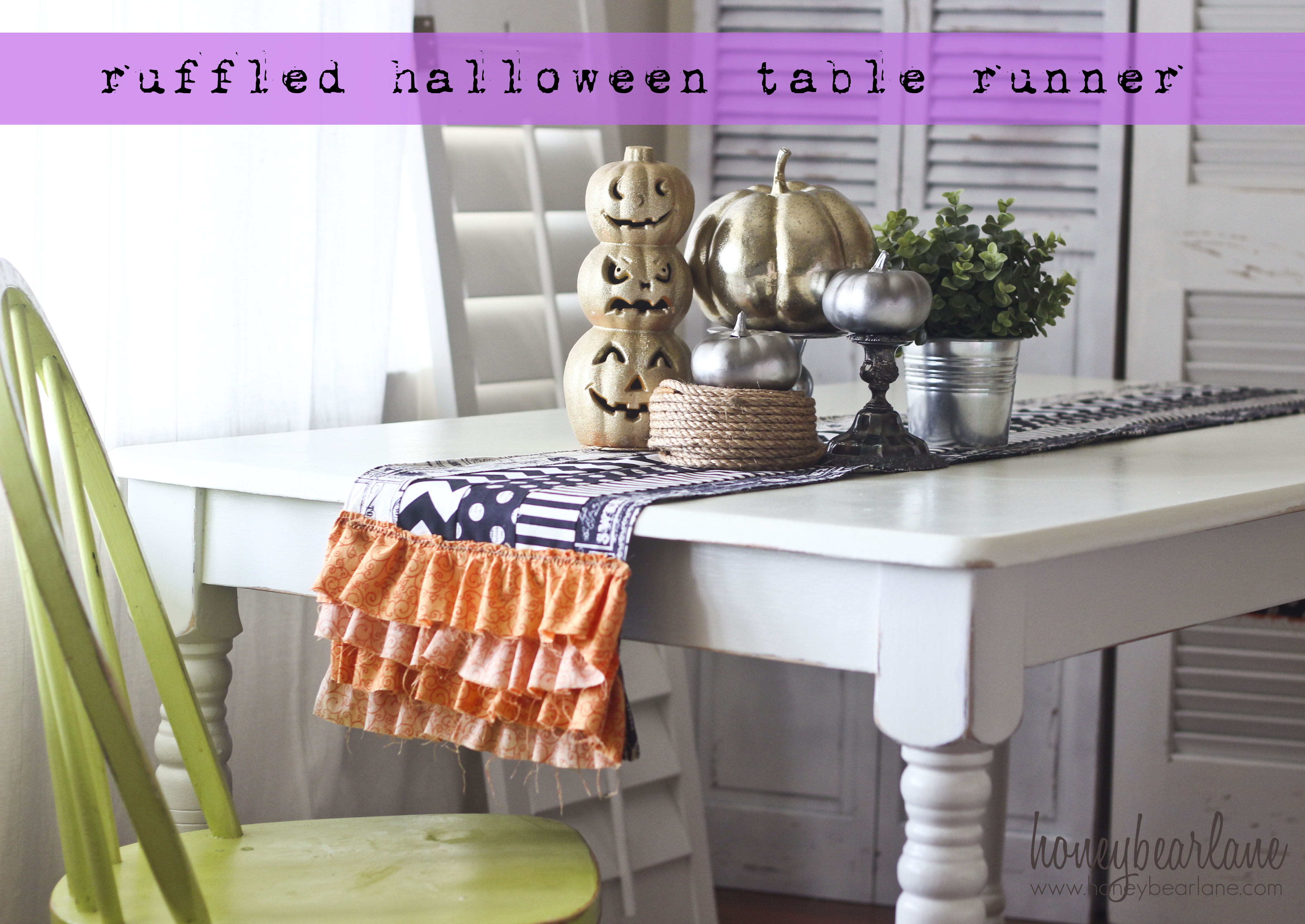 Ruffled Halloween Table Runner