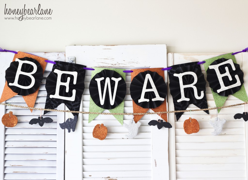 halloween banner and garland
