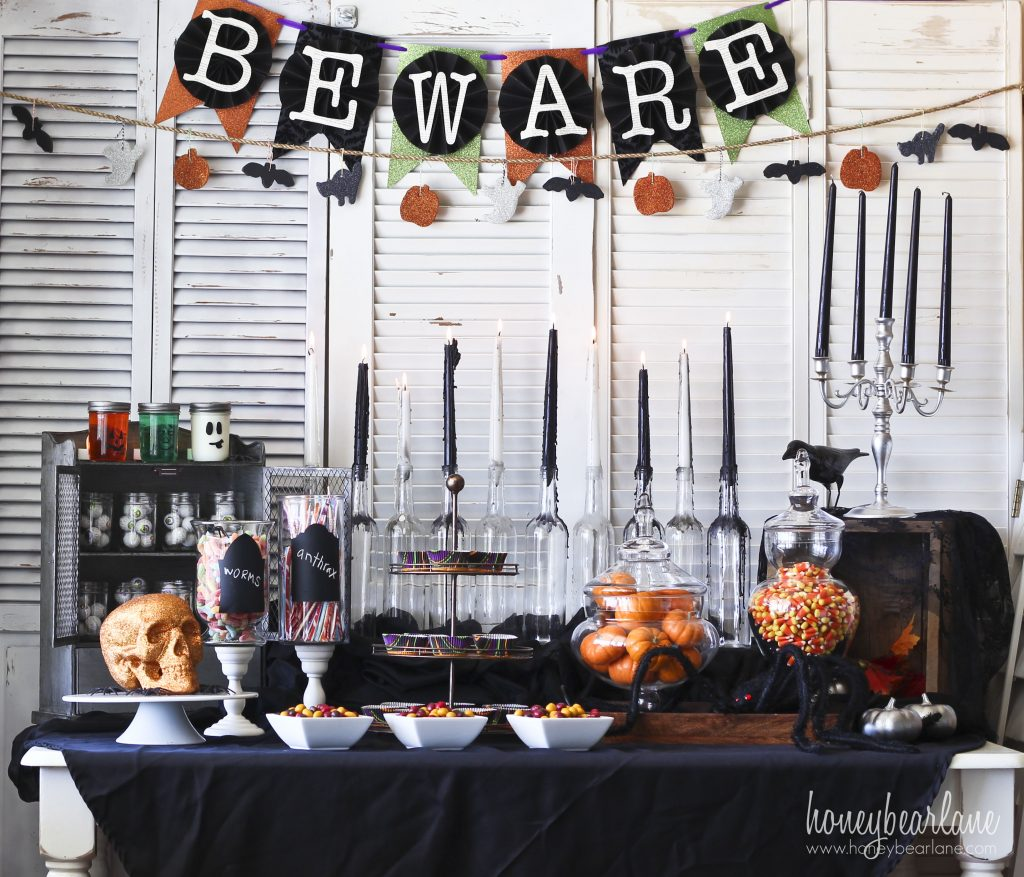 Spooky Halloween Party Set Up