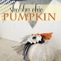 Shabby Chic Pumpkin Makeover