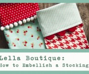 Lella Boutique: Embellish a Stocking Cuff
