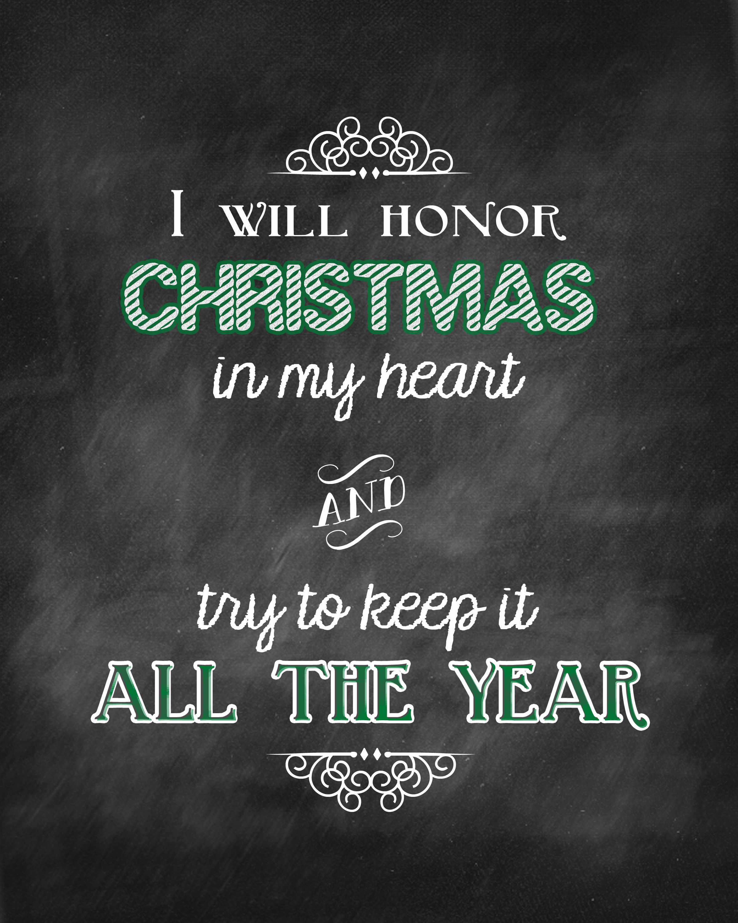 Honor christmas quote