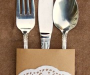 doily washi tape silverware