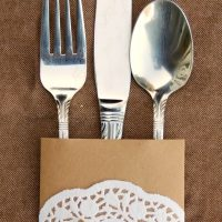 Doily and Paper Utensil Wrappers