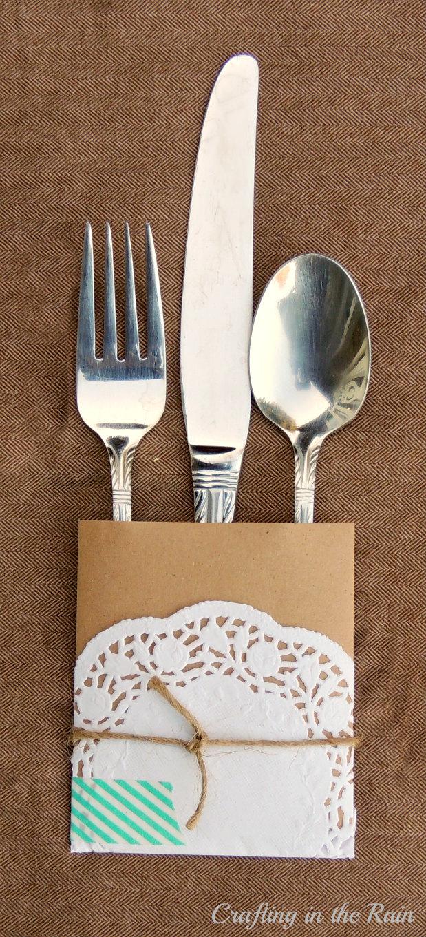 thanksgiving silverware holder craft