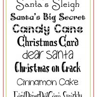 Free Christmas Fonts!