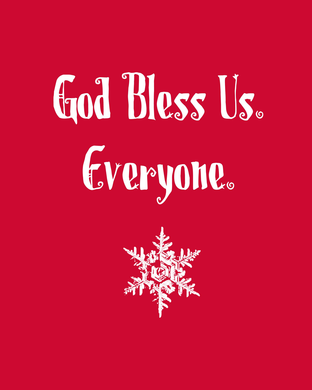 God Bless Us Printable In Red Honeybear Lane
