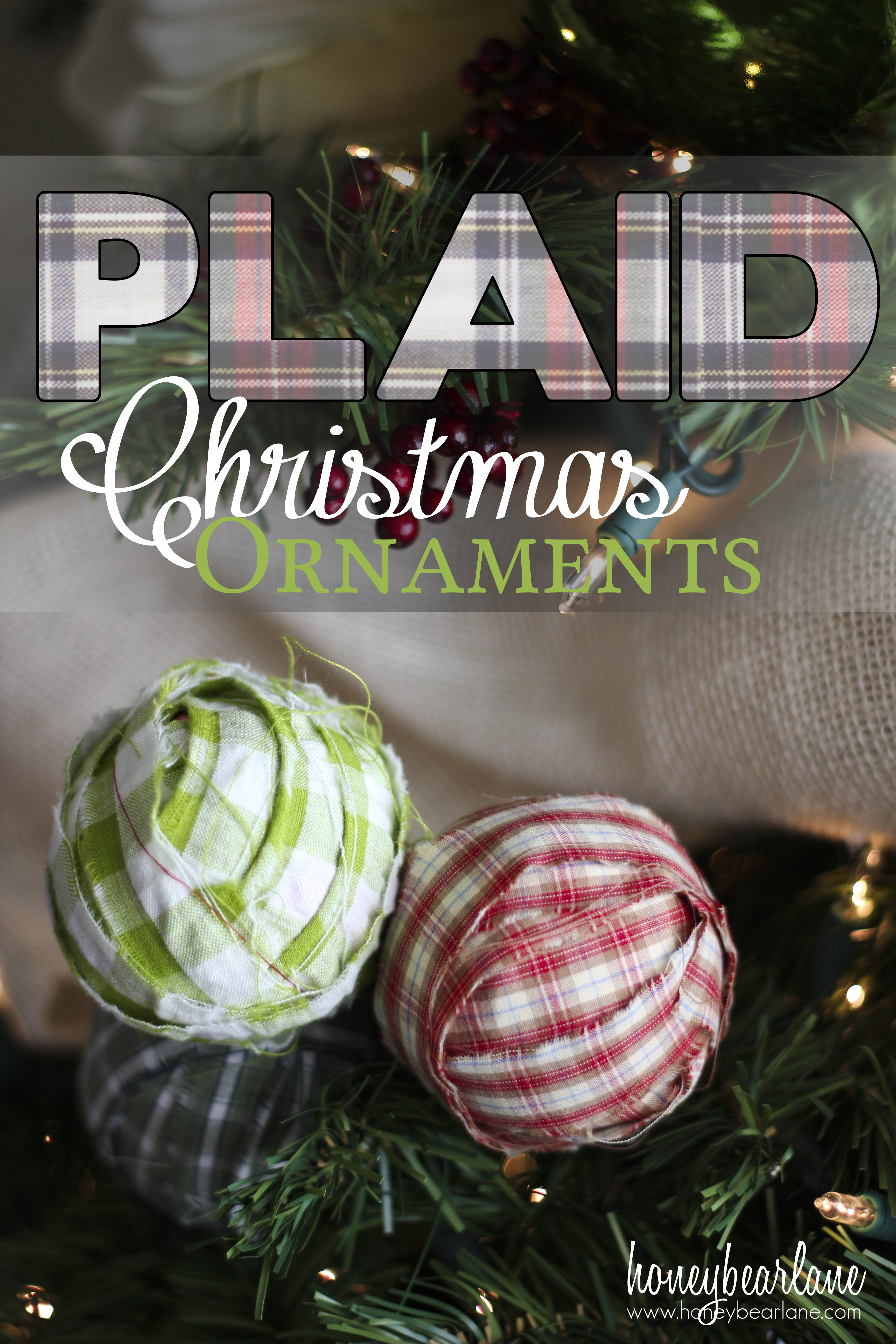 plaid christmas ornaments - Plaid Christmas Ornaments