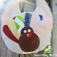 Scrappy Turkey Bib