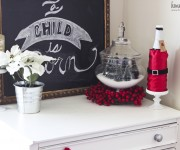 christmas with chalkboard