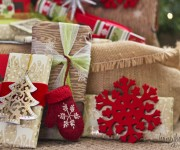 gift wrap with ornaments