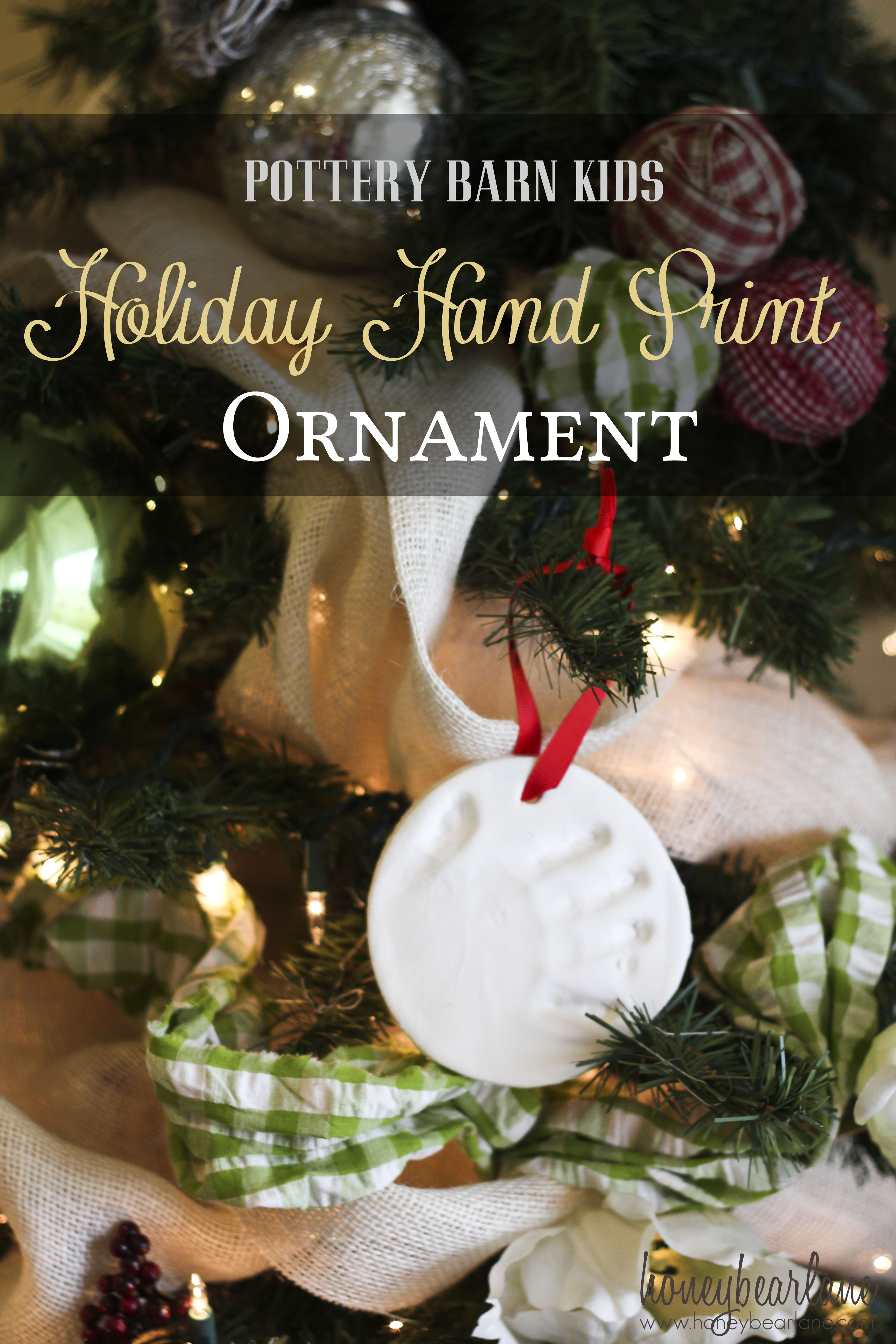 holiday handprint ornaments by pottery barn kids