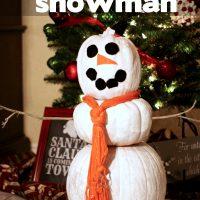 Kids Craft:  Pumpkin Snowman