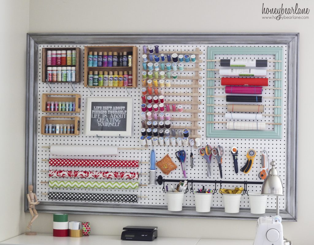 Craft Room Organisation: Extra Large Pegboard For Craft Room Organization