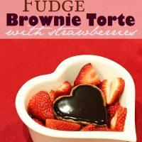 Fudge Brownie Torte with Strawberries
